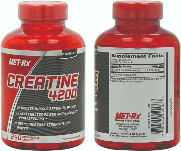 Creatine 4200 Supplement Supports Muscles Pre Post Workout Recovery Capsules 4