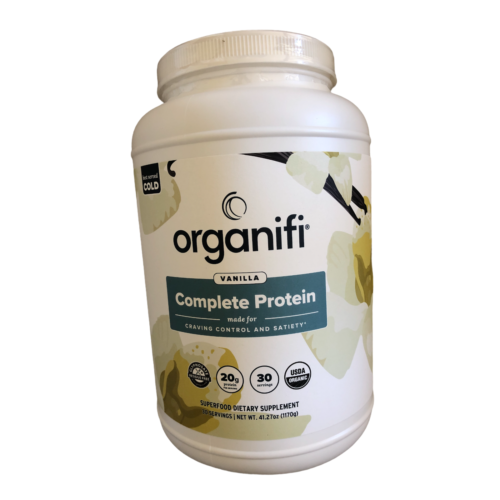 Organifi Complete Protein VANILLA All in One Mix Supp.- New Labeling Exp. 1/2023