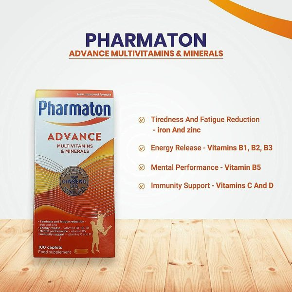 3 (THREE) PACK PHARMATON ADVANCE 100 Caplets (containing Unique Ginseng G115) 1