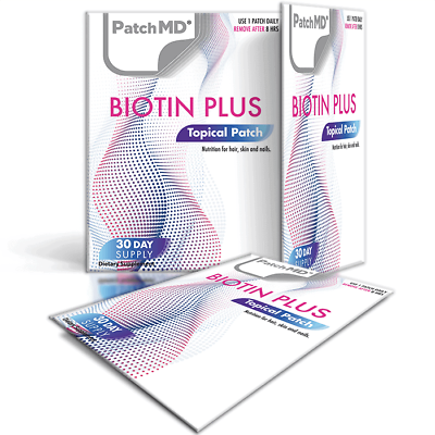 PatchMD - Bariatric Basics #2 Topical Patches AND Biotin Plus - 30-Day Supply  1