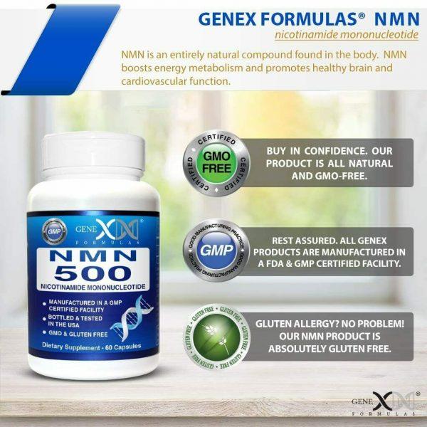 NMN Stabilized Form 500mg Serving Nicotinamide Mononucleotide Direct NAD... 4