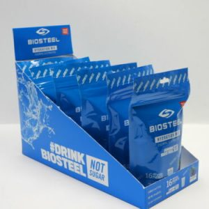 Case BioSteel Hydration Mix Electrolytes BLUE RASPBERRY Individual Packets 05/22
