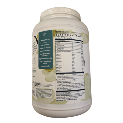 Organifi Complete Protein VANILLA All in One Mix Supp.- New Labeling Exp. 1/2023 1