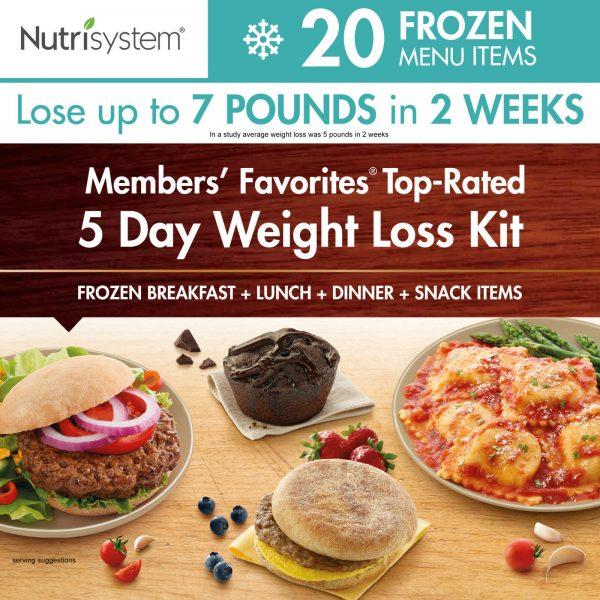 Nutrisystem 5 Day Diet Kit Weight Loss Frozen Food Meals Snacks Breakfast Lunch 4