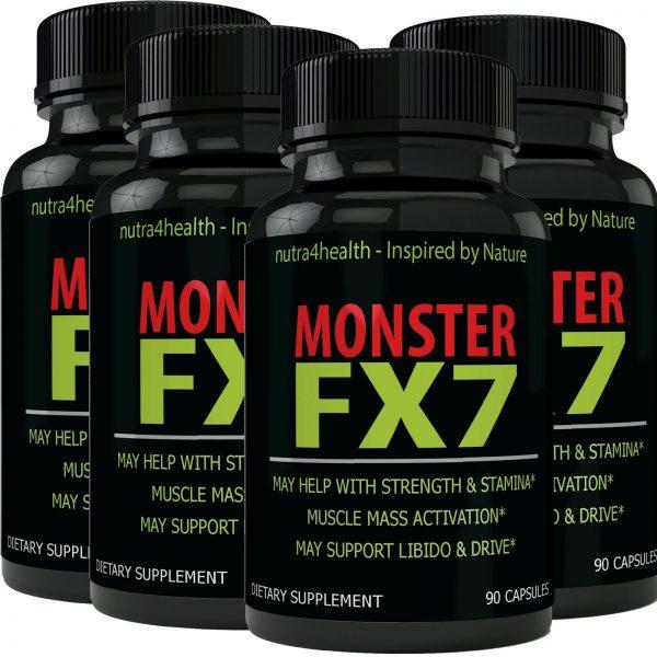Monster FX7 Male Enhancement 4 Bottle Pack Supplement Advanced Enhancing Pills
