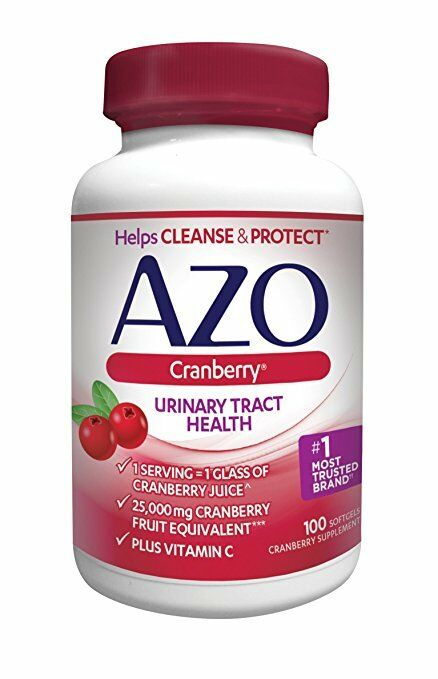 AZO Urinary Tract Health Cranberry Softgels, 100 Ct (6 Pack)