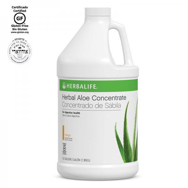HERBALIFE HERBAL ALOE CONCENTRATE  MANGO, CRANBERRY OR MANDARIN 1/2 gallon 1.89L