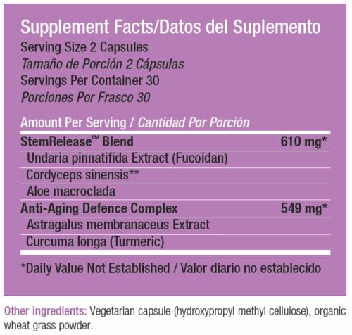 StemRelease3 SRE by StemTech 60 Capsules Advanced Stem Cell Nutrition (3 Pack) 2