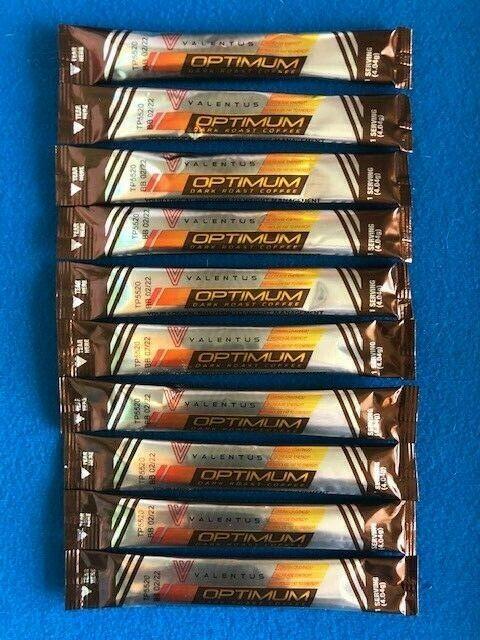 Valentus Optimum Dark Roast Coffee Sticks - 30 Sticks - FREE SAME DAY SHIP   1
