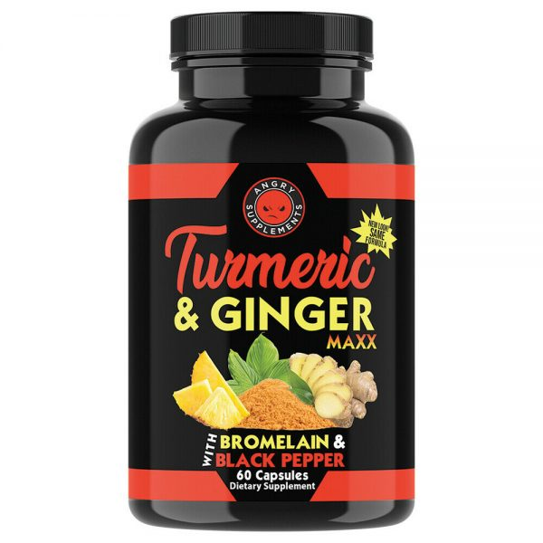 Turmeric Ginger Pills Natural Anti Inflammatory (12-Pack) Joint Support  1