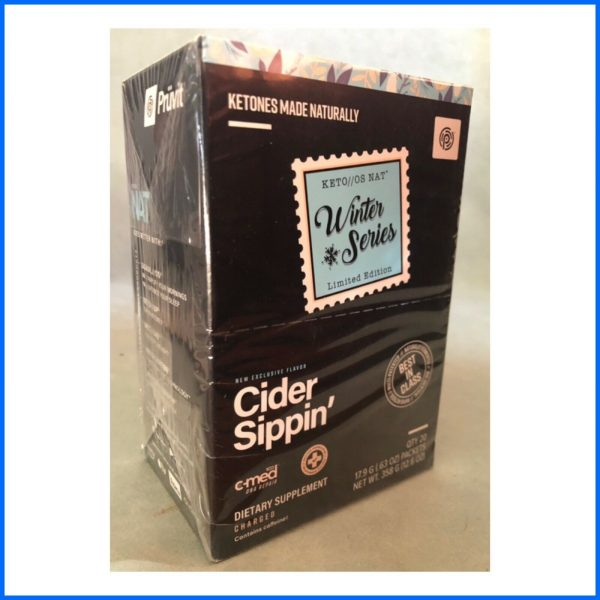 Pruvit Winter Series Cider Sippin Charged Unopened Box (20 Packets) Exp 6/22
