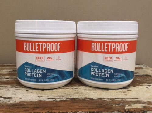 2x BulletProof 20g Collagen Protein Keto Mct Oil VANILLA 14.3oz (405g) Exp 12/22