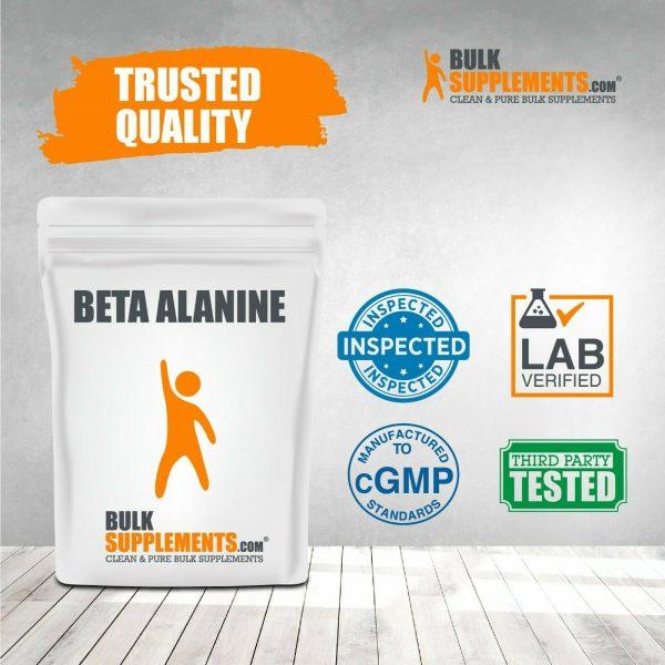BulkSupplements.com Beta Alanine - Vegan Pre Workout - Beta Alanine Powder 8