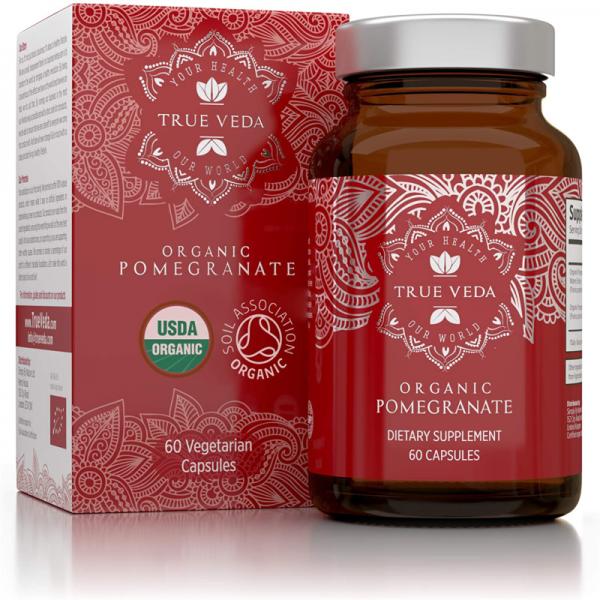 2 Bottles POMEGRANATE Supplement Antioxidant Blood Pressure Support TRUE VEDA 4