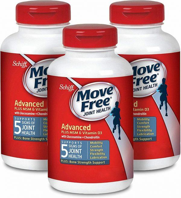 Move Free Vitamin D3, MSM, Glucosamine And Chondroitin - Advanced Tablets (120