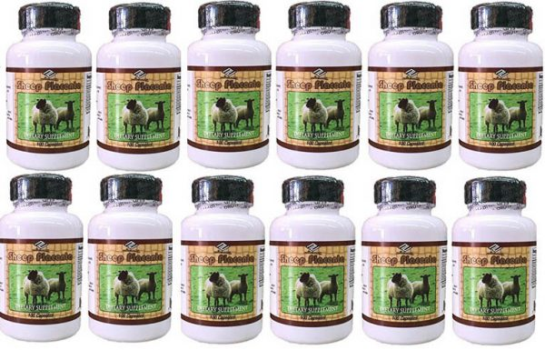 12 Sheep Placenta with Grape Seed, Collagen Vitamin E Zinc 1200capsules in total 2
