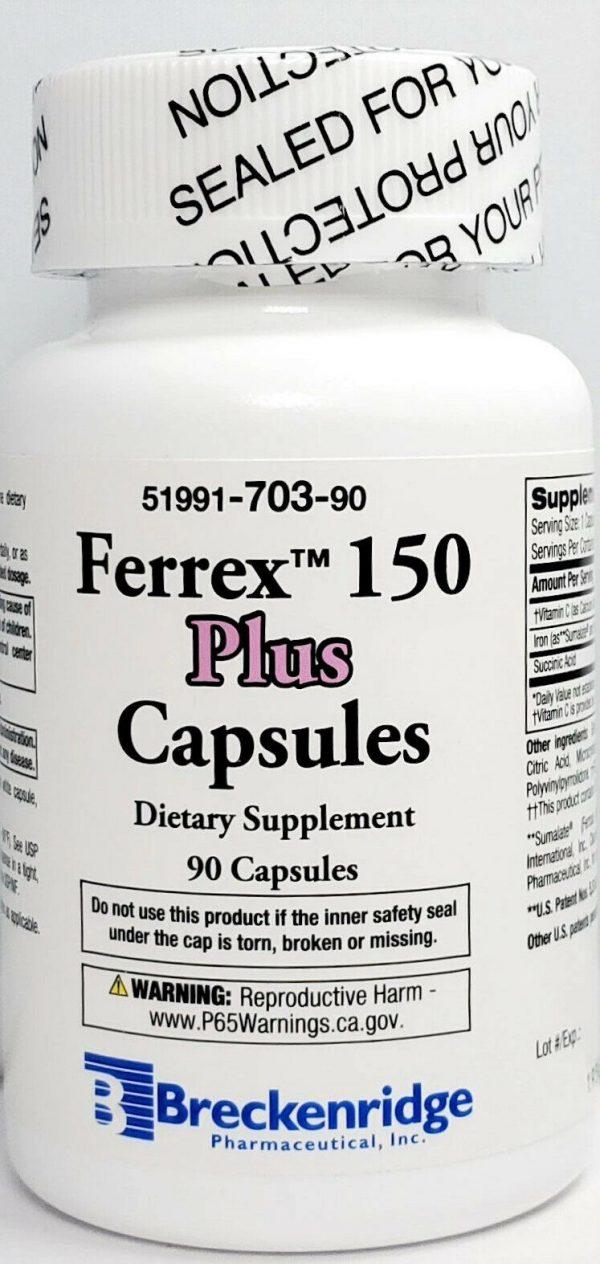 Ferrex 150 Plus Bottle 90 count -Expiration Date 10-2022