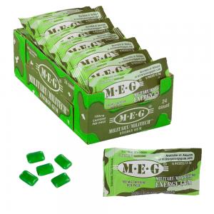 MEG - Military Energy Gum | 100mg caffeine pc | Spearmint 24 Pack (120 Count) 1