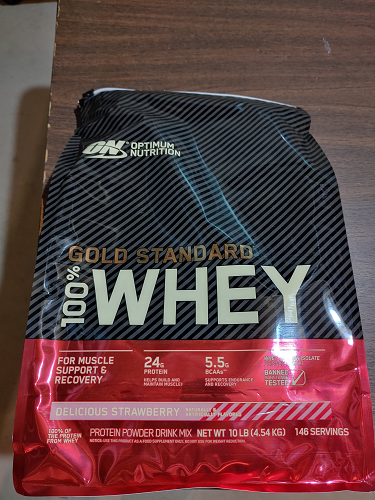 Optimum Nutrition ON 100% Whey Protein Gold Standard Delicious Strawberry 10lb