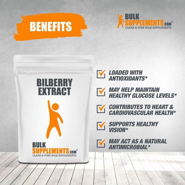BulkSupplements.com Bilberry Extract Powder - Eye Supplements - Dry Eye 3