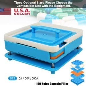 100 Holes Capsule Fillings Machine Size 000 00 0 ABS Manual Capsule Board Tamper