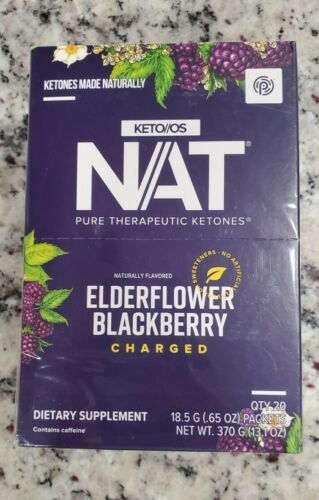 Pruvit Keto OS NAT Elderflower Blackberry Charged unopened box