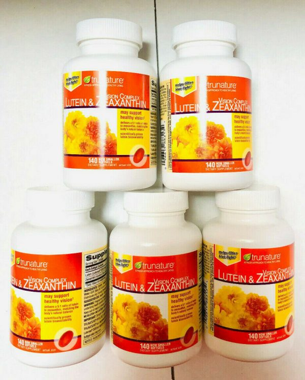 Trunature Vision Complex Lutein & Zeaxanthin, 140 Softgels Each (Pack of 5) Fast