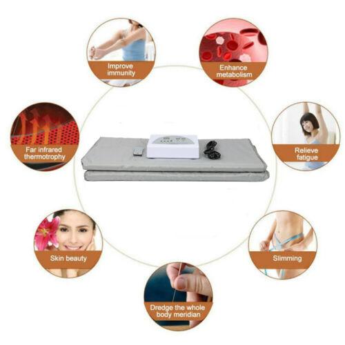 Digital 2 Zone Far Infrared FIR Sauna Slimming Blanket Weight Lose Spa Detox 2