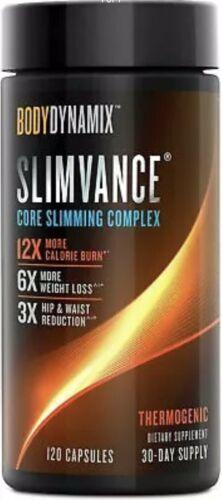 x2 Bodydynamix Slimvance Core Slimming Complex - 120CAPS Each , Exp 04/22 4