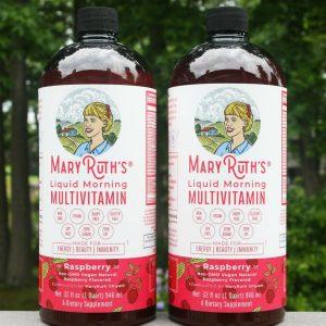 (2) Mary Ruth's Liquid Morning Multivitamin, 32 fl oz - RASPBERRY FLAVORED