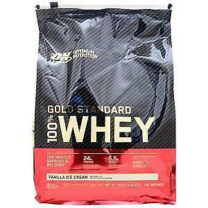Optimum Nutrition 100% Whey Protein - Gold Standard Vanilla Ice Cream 10 lbs