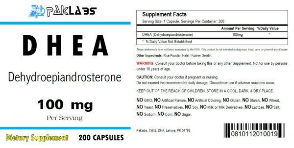 DHEA High Potency 100mg 200 Capsules HUGE BOTTLE High Quality USA SHIPPING 1