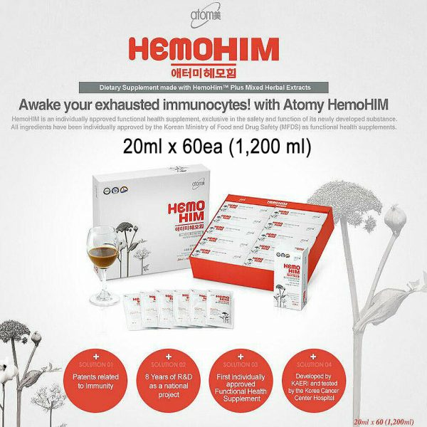 [DHL Express] Atomy HemoHIM Extract Natural Immunity Booster 20mL x 60 packets 1