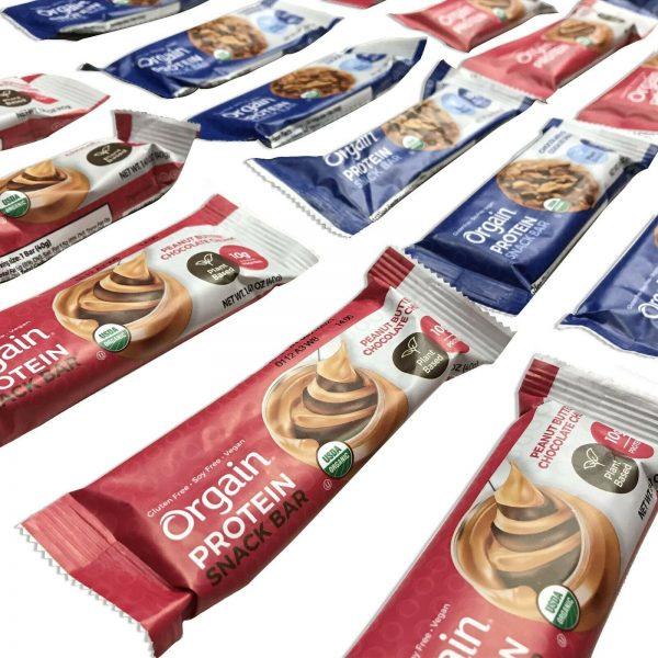 144 Orgain Protein Snack Bar Organic 1.41oz Plant Based Gluten Free Best By 4/21 2