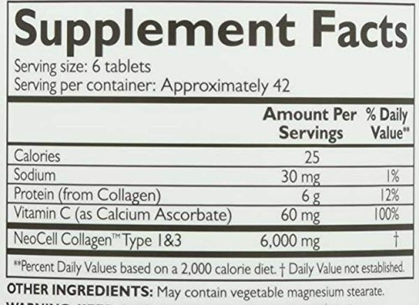 Neocell, Collagen Super Plus C, 250 Tablet ( 3 Pack ) 1