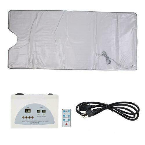 Gift Far Infrared Sauna Heating Blanket Body Shape Slimming Fitness Machine US 1