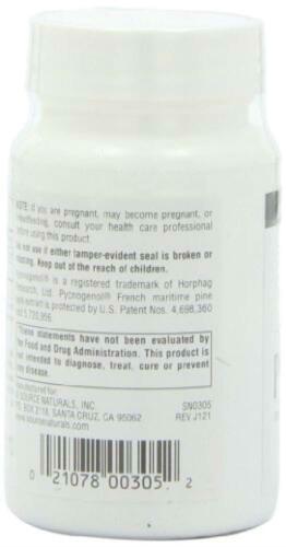 Source Naturals Pycnogenol 50mg 120 tabs 50mg, Tablets 3