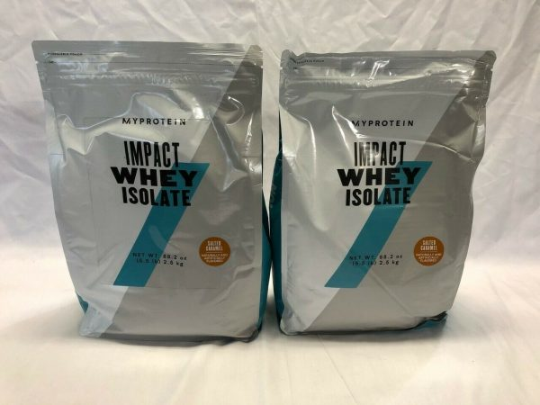 Pack of 2 - Myprotein Impact Whey Isolate Protein Powder, Salted Caramel 5.5 Lb