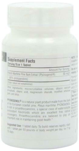 Source Naturals Pycnogenol 50mg 120 tabs 50mg, Tablets 1