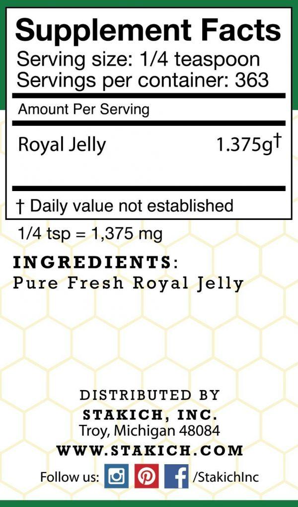1 lb (16 oz) PURE FRESH ROYAL JELLY 100% NATURAL PREMIUM QUALITY BEE 453,600mg  2