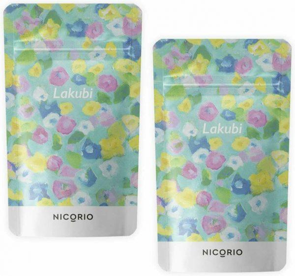 NICORIO LAKUBI 2 Pack SET Lactobacillus Bifidobacterium Supplement 31 Days JAPAN