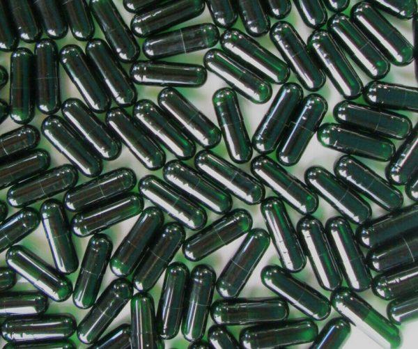 Chlorophyll Gelatin Capsules Size 00* 1