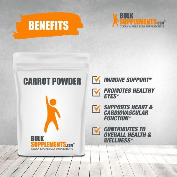BulkSupplements.com Carrot Powder - Powdered Greens Supplement - Food Powders 3