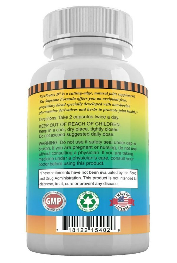 FlexProtex D Natural Joint Supplement Herbal Pain Relief Flex Protex Turmeric 2