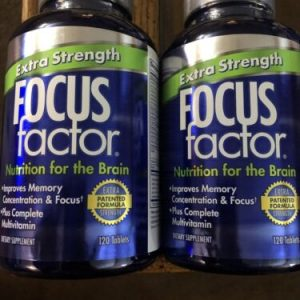 (2) FOCUS Factor Extra Strength Nutrition For The Brain 120 Tablets Exp 01/24