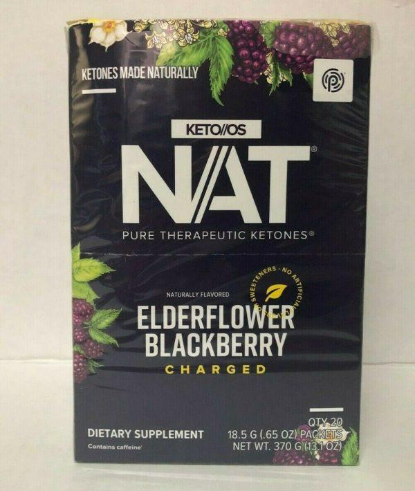 Pruvit KETO OS NAT Elderflower Blackberry Charged 5,10 & 20 Packets FreeShipping