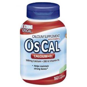 (1)Os-Cal Oscal Calcium 500 mg+D3 200 IU Supplement 160 Caplets SEALED Exp 10/21