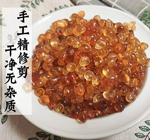 Greenlike Natural Wild Tao Jiao Peach Gum Jelly for Skin Health 16oz 天然桃胶 桃胶 圆桃胶 1