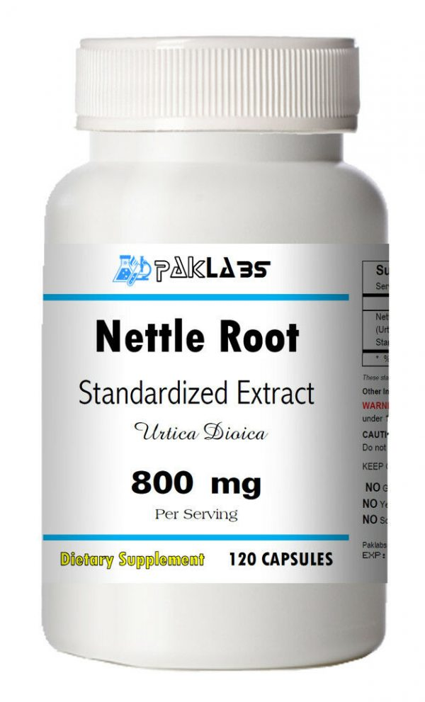 Stinging Nettle Root Extract 800mg Serving 120 Capsules Urtica Dioica Bottle