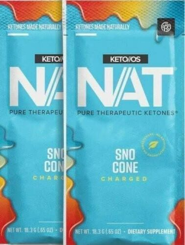 Pruvit KETO OS NAT OTG SNO CONE SNOW CONE Charged ketones 10 packets exp 2022